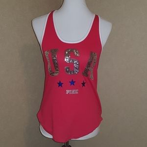 NWT PINK Victoria's Secret USA Tank
